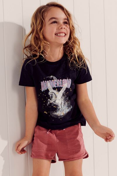 Stevie Ss Embellished Tee, PHANTOM/WONDERLAND UNICORN/MAX