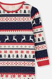 Kids Christmas Unisex PJ Set, XMAS FAIRISLE
