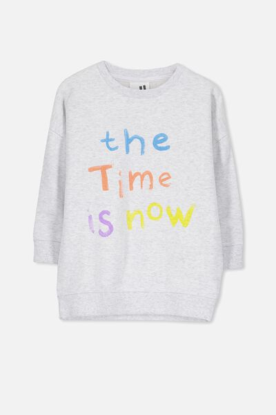 Sage Longline Crew, SUMMER GREY MARLE/THE TIME IS NOW/DROP