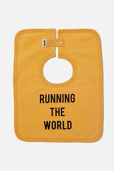 The Everyday Bib, VINTAGE HONEY/RUNNING THE WORLD