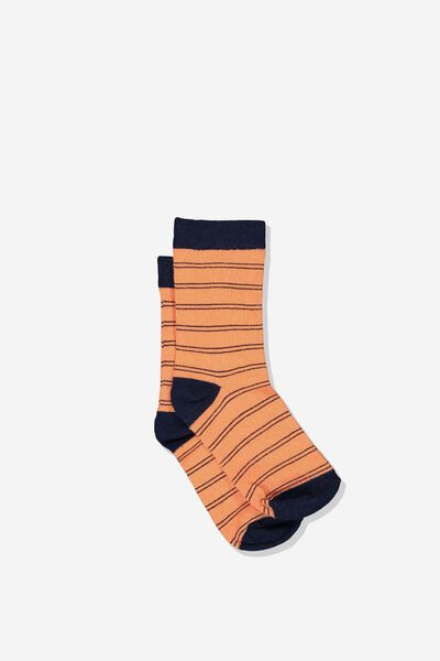 Fashion Kooky Socks, B VINTAGE ORANGE STRIPE