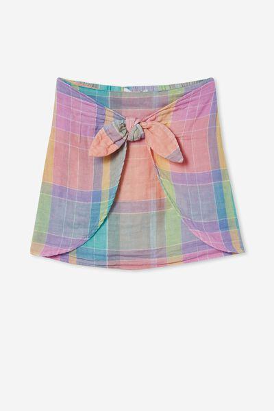 Lucille Skirt, RAINBOW CHECK