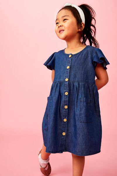 Vanessa Short Sleeve Dress, DARK WASH