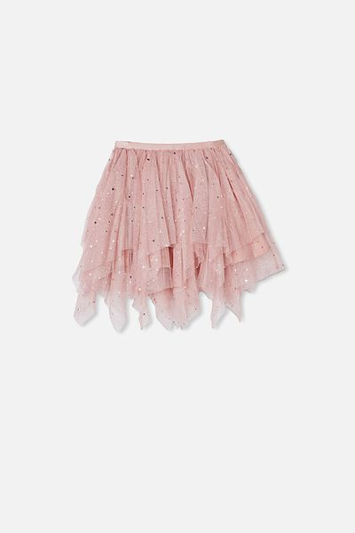 Trixiebelle Dress Up Skirt, ANTIQUE ROSE/SPARKLE HEARTS