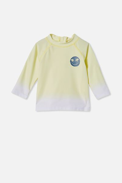 Freddie Rash Vest, LEMON DROP/PALM SMILE