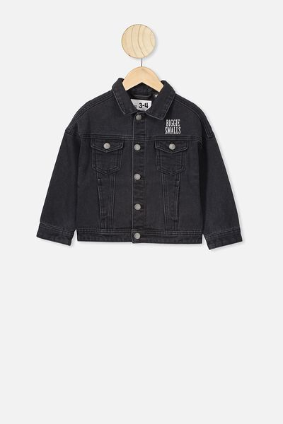 Lux Emmy Spliced Jacket, LCN MT BLACK WASH/BIGGIE SMALLS
