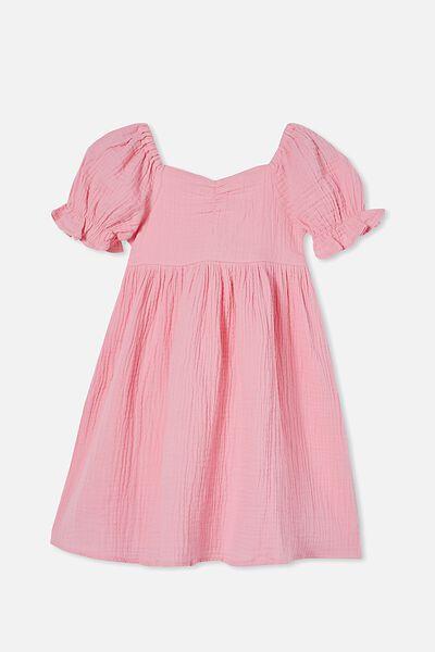 Samantha Short Sleeve Dress, CALI PINK