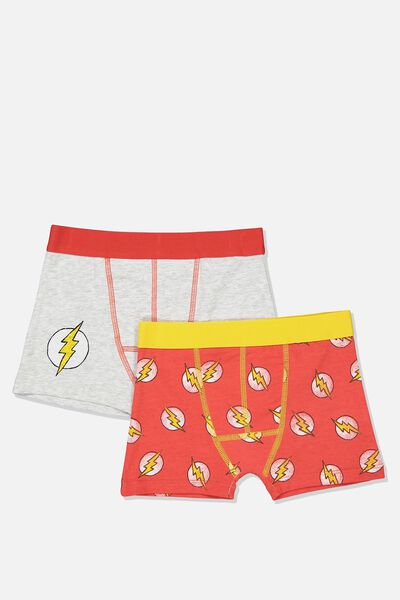Boys 2Pk Licence Trunks, LCN WB THE FLASH MIX