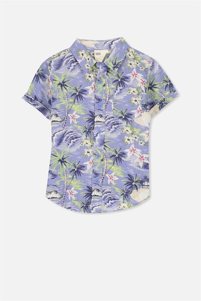 Jackson Short Sleeve Shirt, SEA AND SAND