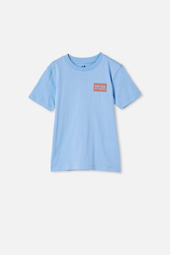 Max Skater Short Sleeve Tee, DUSK BLUE / CHUTNEY/ YAY FOR BETTER DAYS