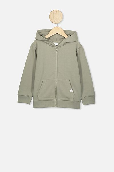 Sunny Zip Through Hoodie, SILVER SAGE