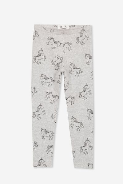 Huggie Tights, LIGHT GREY MARLE/PHANTOM UNICORNS