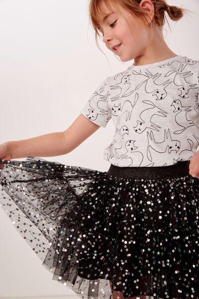 Trixiebelle Tulle Skirt, BLACK/STARS & SPARKLE