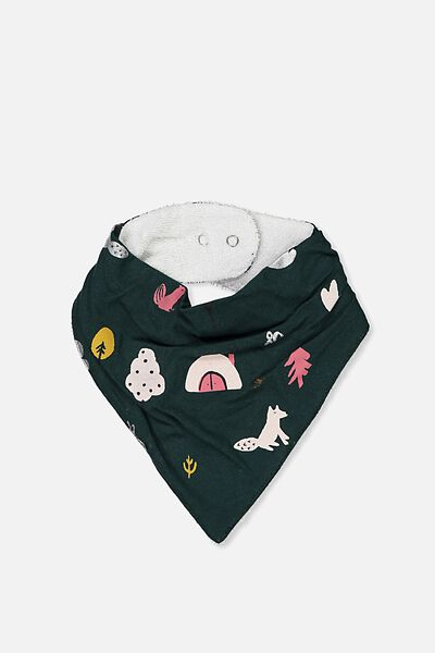 Dribble Bib, BOTANICAL GREEN/WOODLAND
