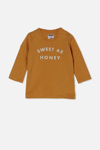 Jamie Long Sleeve Tee, VINTAGE HONEY/SWEET AS HONEY