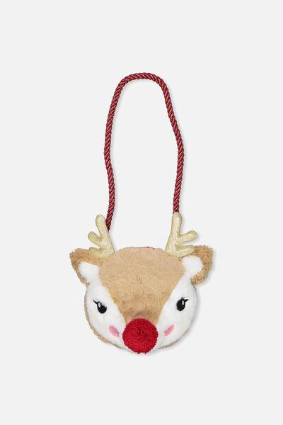 Plush Animal Bag, REINDEER FACE