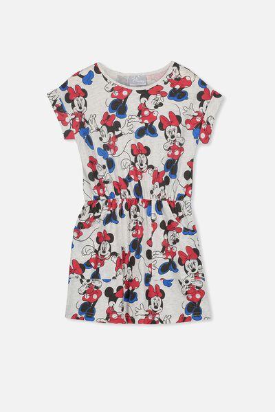 Sibella Short Sleeve Dress, LCN DIS SUMMER GREY MARLE/MINNIE YARDAGE