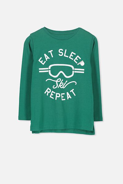 Tom Long Sleeve Tee, EAT SLEEP REPEAT/SIS