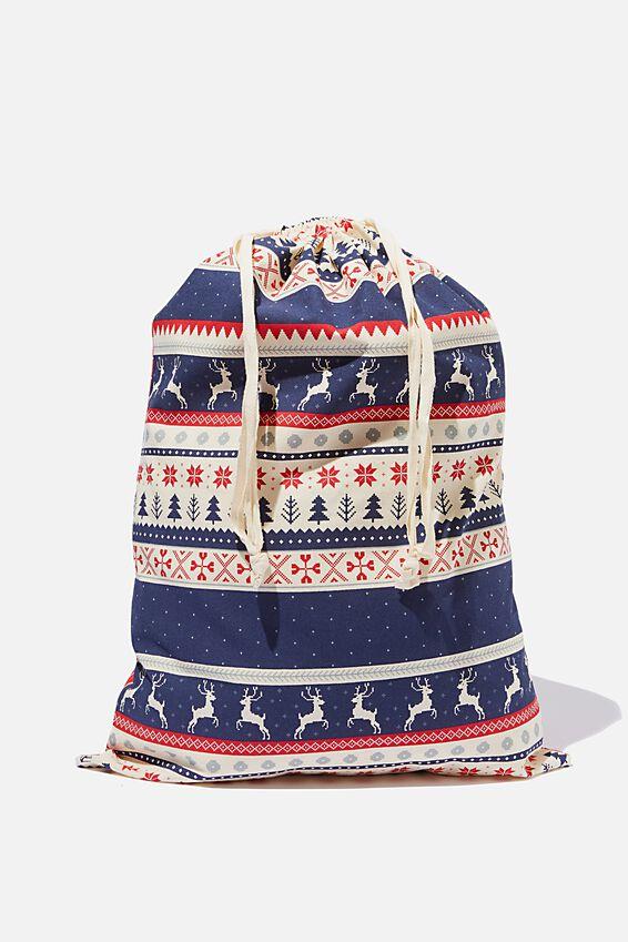 Santa Sack Personalised, FAIRISLE