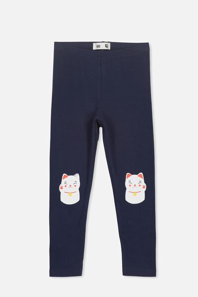 Huggie Tights, PEACOAT/LUCKY CAT KNEES