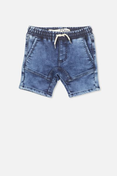 Abe Denim Short, BLUE PEARL WASH