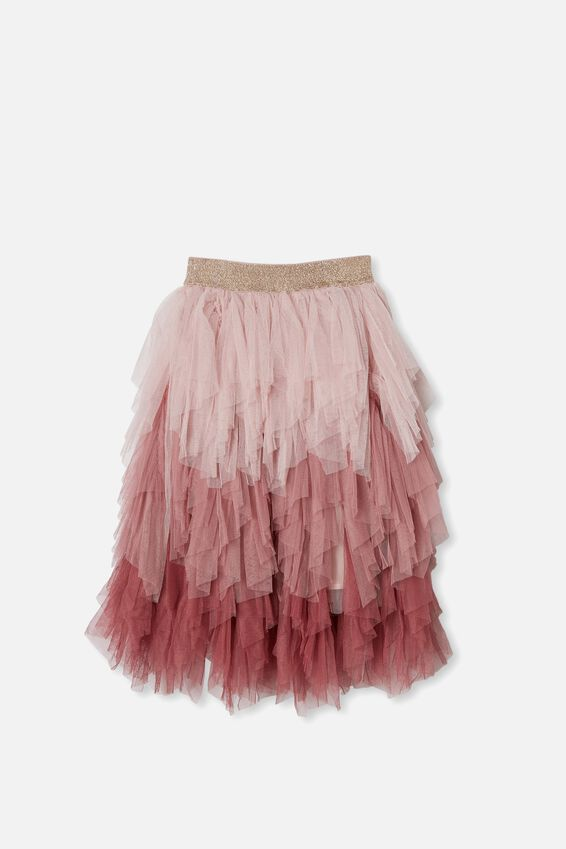 Tori Long Dress Up Skirt, DUSTY PINK GRADIENT