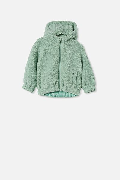 Tallulah Teddy Hooded Jacket, SMASHED AVO