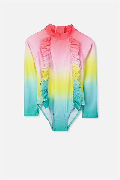 Lydia Rashie Swimsuit, RAINBOW GRADIENT