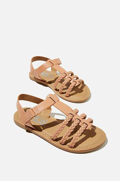 Woven Braid Sandal, PEACHY