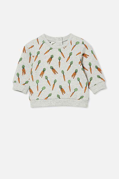 Bobbi Sweater, CLOUD MARLE/CRAZY CARROTS