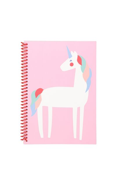 A5 Everyday Lined Notebook, PINK UNICORN