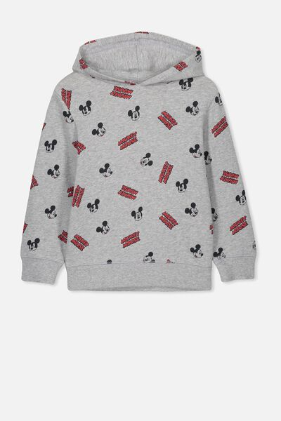 License Hoodie, LCN DIS LT GREY/MICKEY YARDAGE