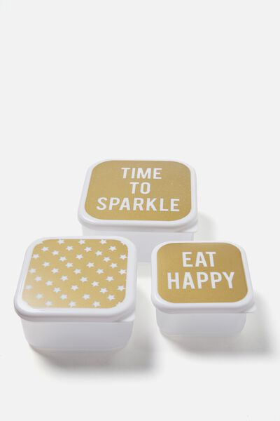 Lunch Box Set Of 3, TIME TO SPARKLE