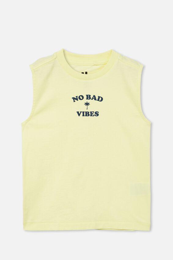 Otis Muscle Tank, LEMONADE/NO BAD VIBES PALM