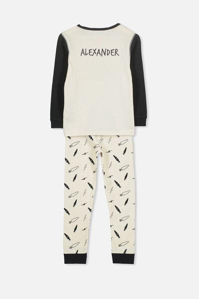 Personalised Harry Boys Long Sleeve Pyjama Set, STREET BUNNY PERSONALISED