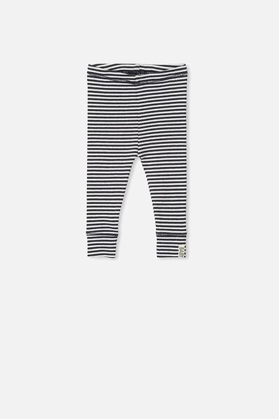 Mini Ribbed Legging, INDIAN INK/VANILLA STRIPE
