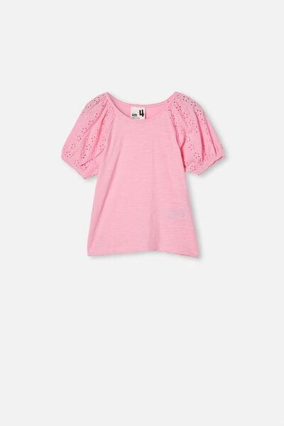 Isabella Puff Sleeve Top, CALI PINK