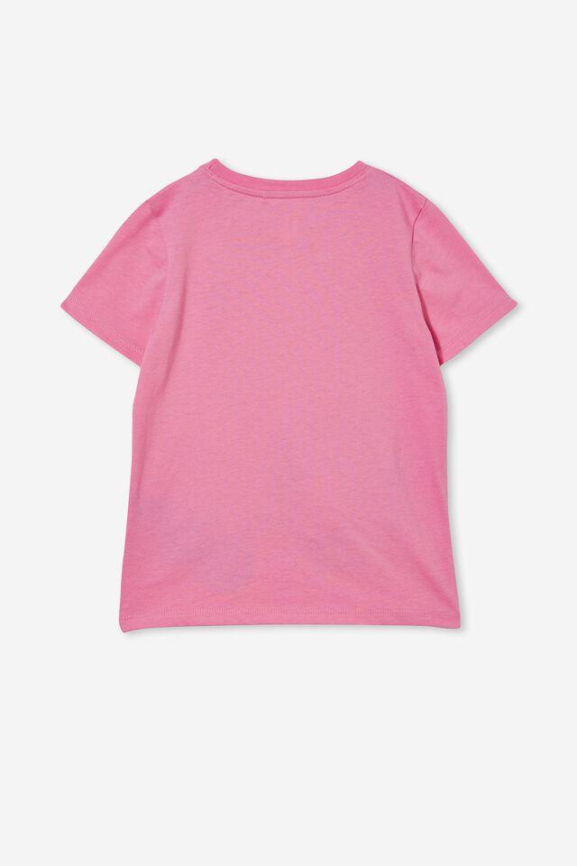 Stevie Short Sleeve Embellished Tee, PINK GERBERA/ XMAS SANTA CHIMNEY