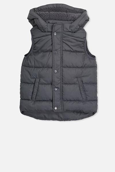 Palmer Puffer Vest, NEW GRAPHITE