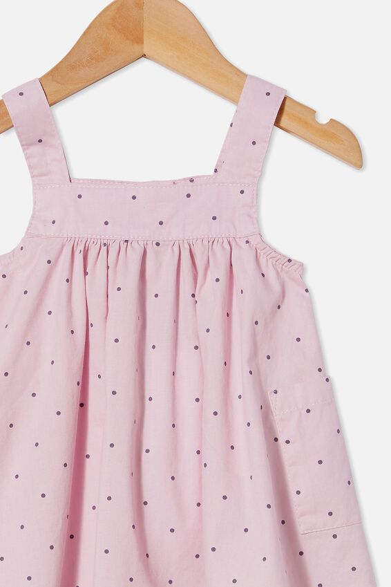 Penny Pinafore Dress, LAVENDER FOG/DUSK PURPLE BETTY SPOT