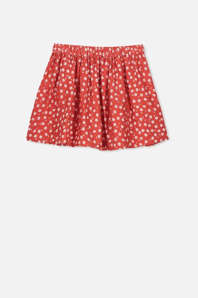 Ellie Flippy Skirt, RED DITSY