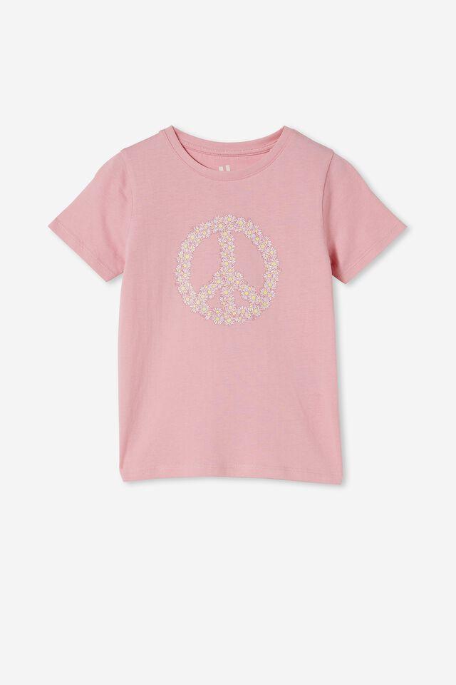 Penelope Short Sleeve Tee, MARSHMALLOW/DAISY PEACE