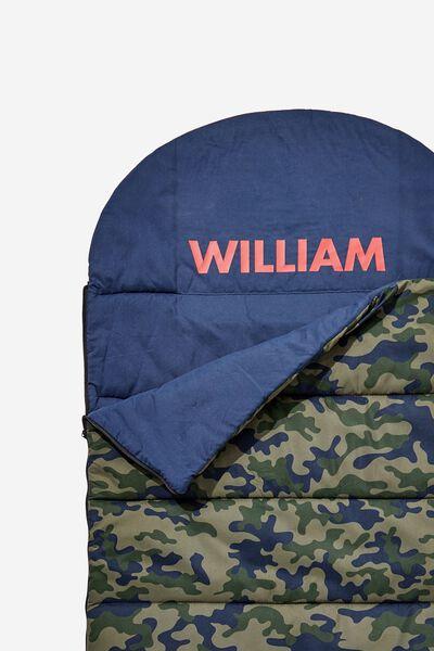 d24dab81e Personalised Slumber Party Sleeping Bag, DARK CAMO. Cotton On Kids