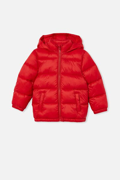 Frankie Puffer Jacket, LUCKY RED