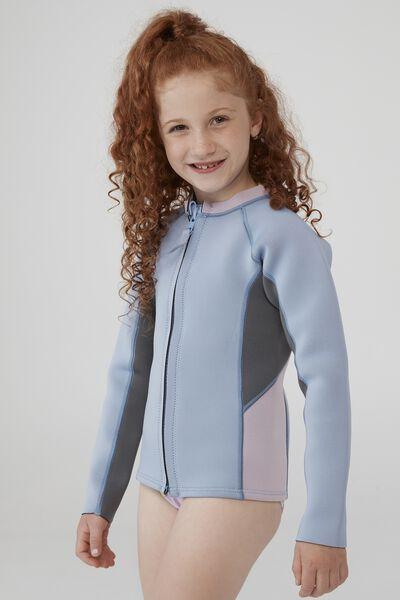 Hayman Long Sleeve Wetsuit Vest, DUSK BLUE