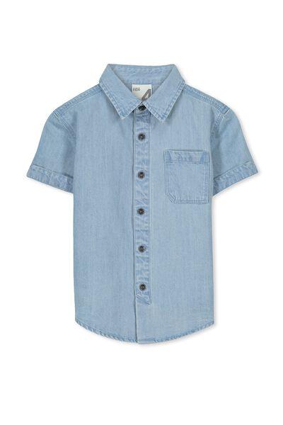 Mitch Ss Chambray Shirt, CHAMBRAY