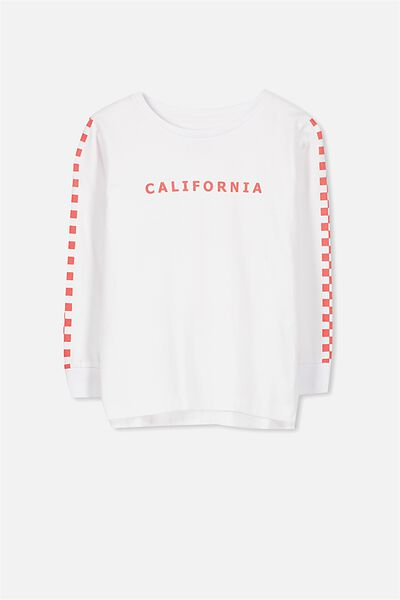 Tom Long Sleeve Tee, CALIFORNIA FOREVER ROLLING/SIS CUFF