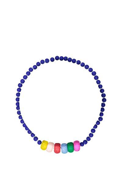 Mixed Beaded Necklace, ABRACADABRA