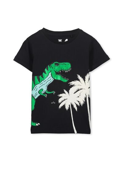Max Short Sleeve Tee, PHANTOM DINO FOIL PALM/SIS