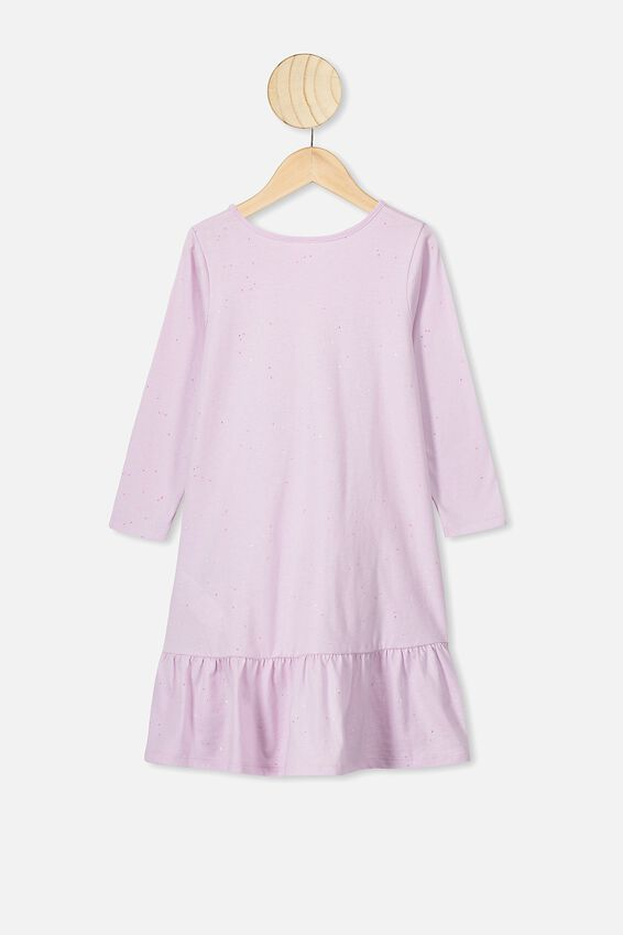 Joss Long Sleeve Dress, LAVENDER FOG/GALACTIC SPARKLE
